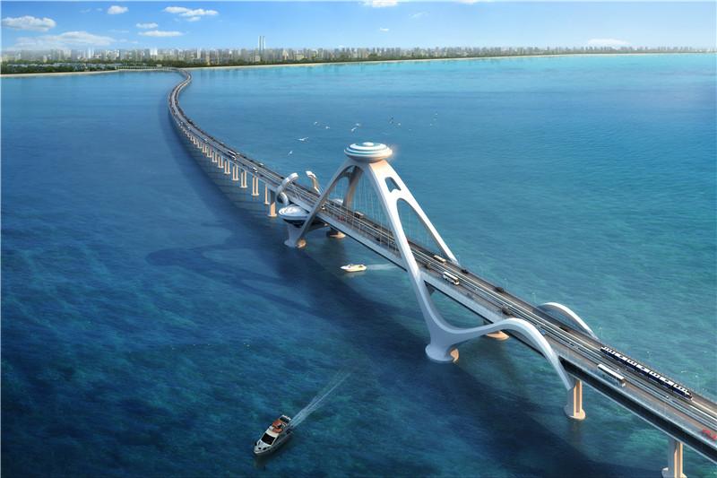 海口东海岸如意岛项目跨海大桥景观方案